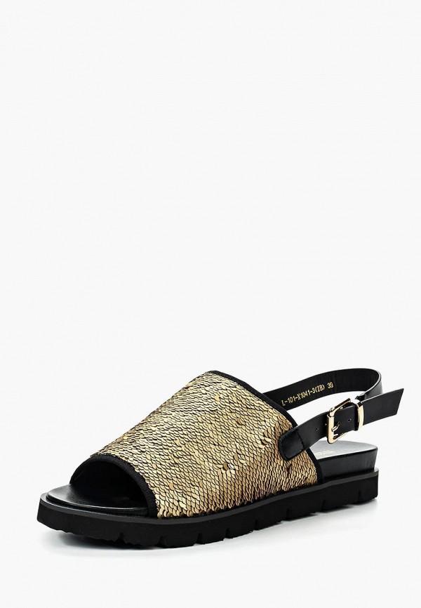 женские сандалии item black, золотые