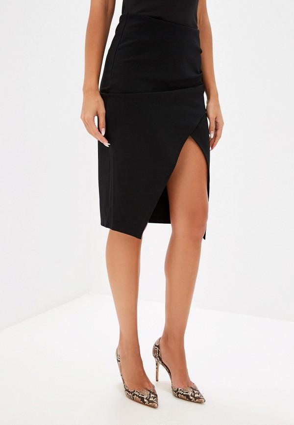 женская прямые юбка ivyrevel, черная