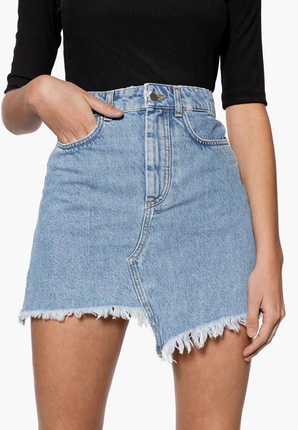 женская джинсовые юбка ivyrevel, голубая