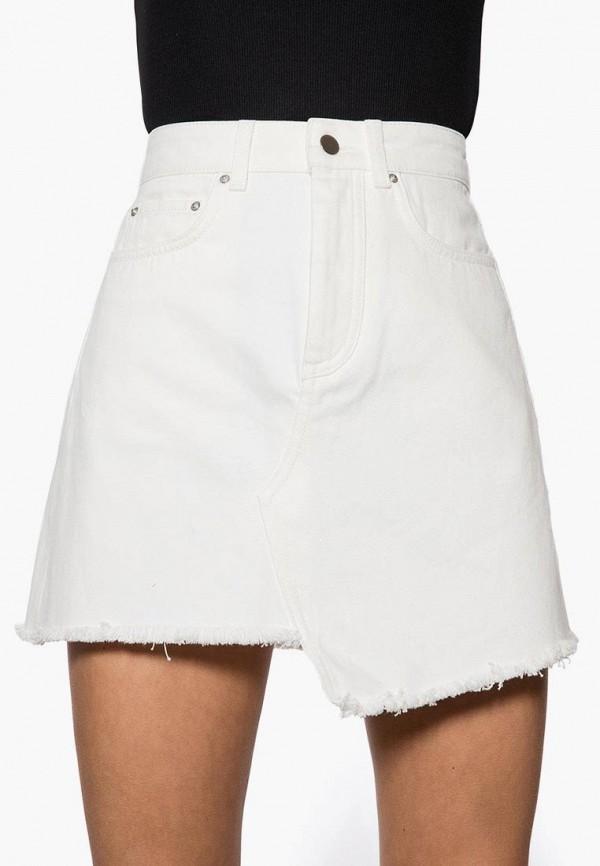 женская джинсовые юбка ivyrevel, белая