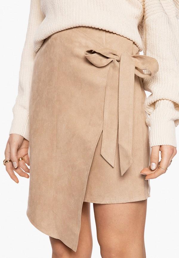 женская прямые юбка ivyrevel, бежевая
