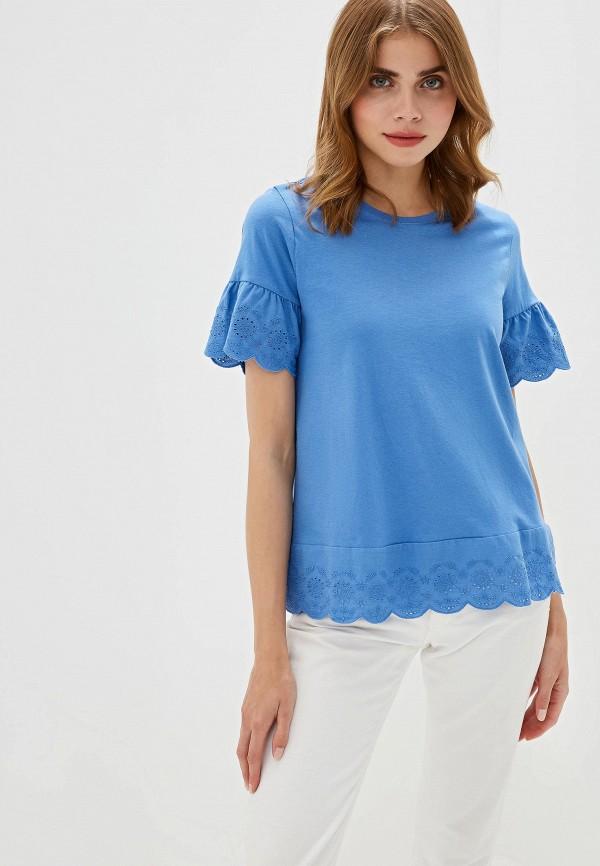 Фото - Женскую футболку Iwie синего цвета