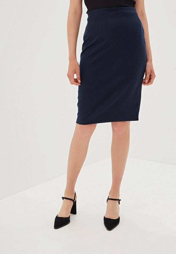 женская прямые юбка iwie, синяя
