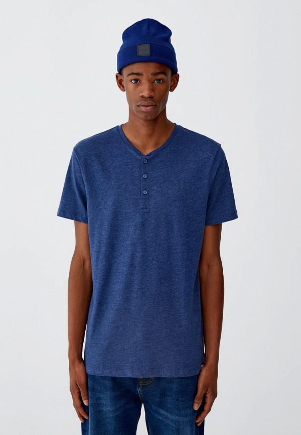 мужская футболка с коротким рукавом pull&bear, черная