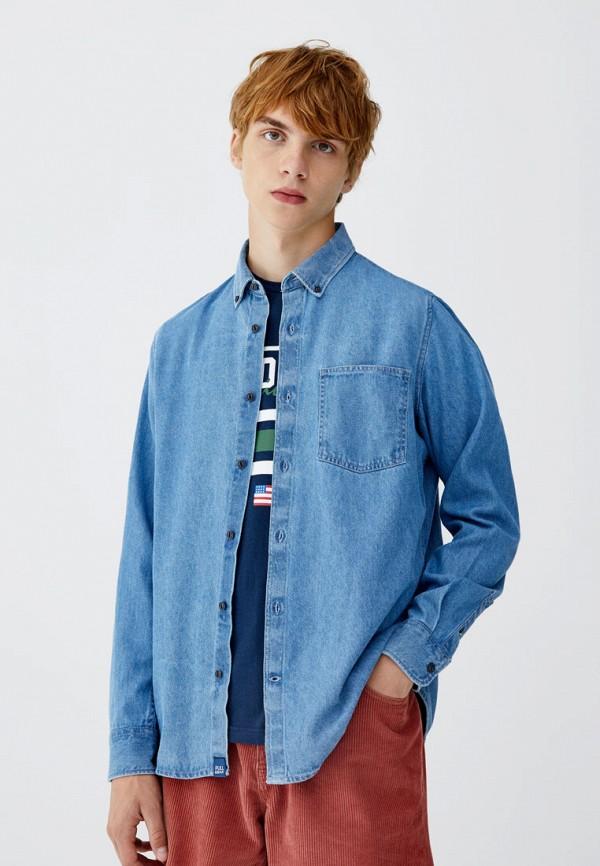 Купить Рубашка джинсовая Pull&Bear, ix001xm000fd, голубой, Осень-зима 2018/2019