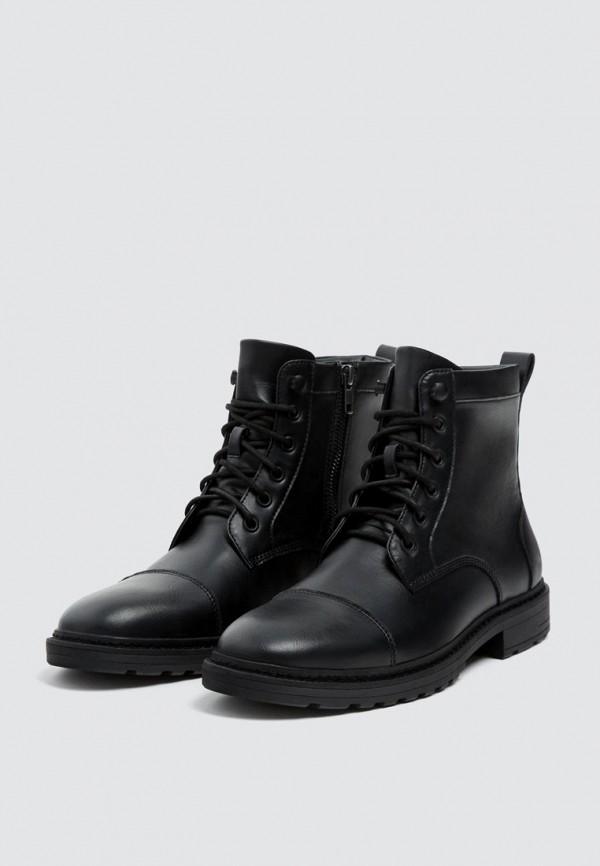 Ботинки Pull&Bear, ix001xm000pm, черный, Осень-зима 2018/2019  - купить со скидкой
