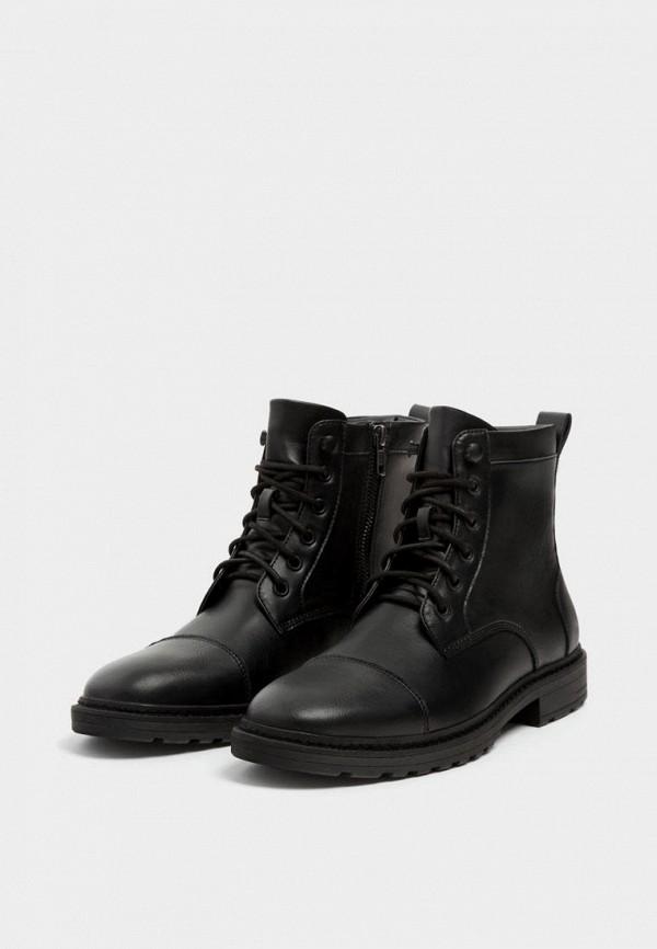мужские ботинки pull&bear, черные