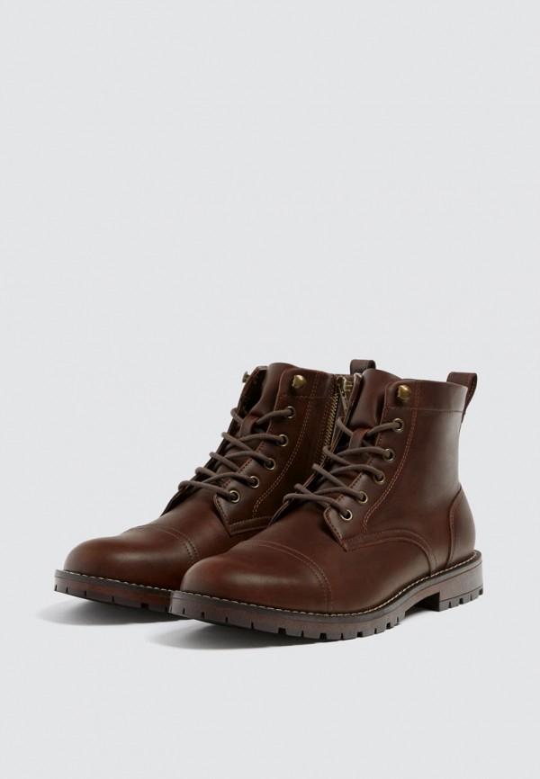 Купить Ботинки Pull&Bear, ix001xm000t5, коричневый, Осень-зима 2018/2019