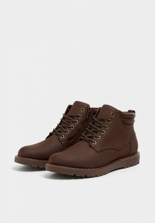 мужские ботинки pull&bear, коричневые
