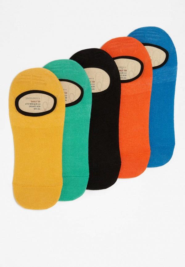 Носки  желтый, зеленый, оранжевый, синий, черный цвета