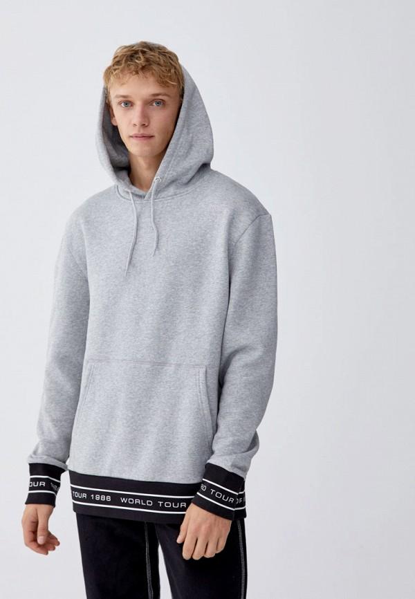 Купить Худи Pull&Bear, ix001xm00162, серый, Осень-зима 2018/2019