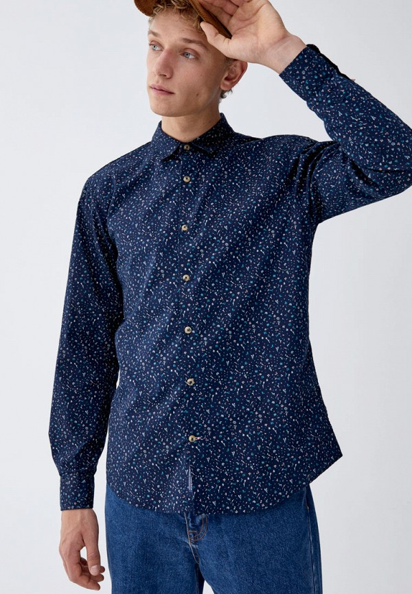 Рубашка Pull&Bear Pull&Bear IX001XM0017D цена 2017