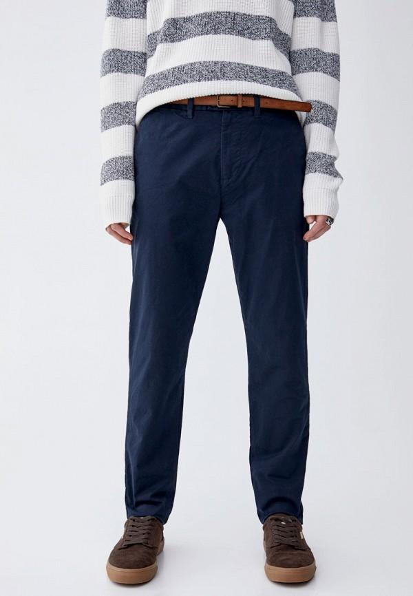 мужские повседневные брюки pull&bear, синие