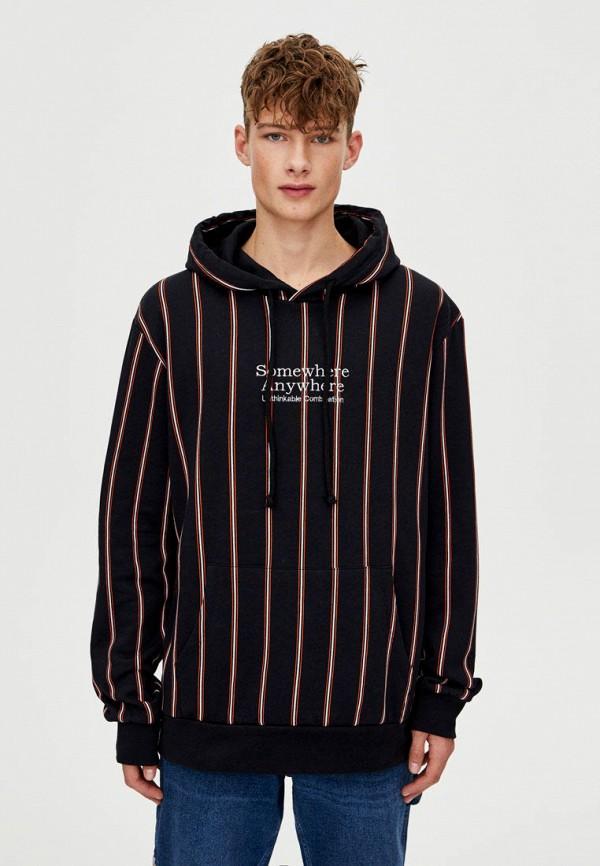 Купить Худи Pull&Bear, ix001xm001dw, черный, Осень-зима 2018/2019