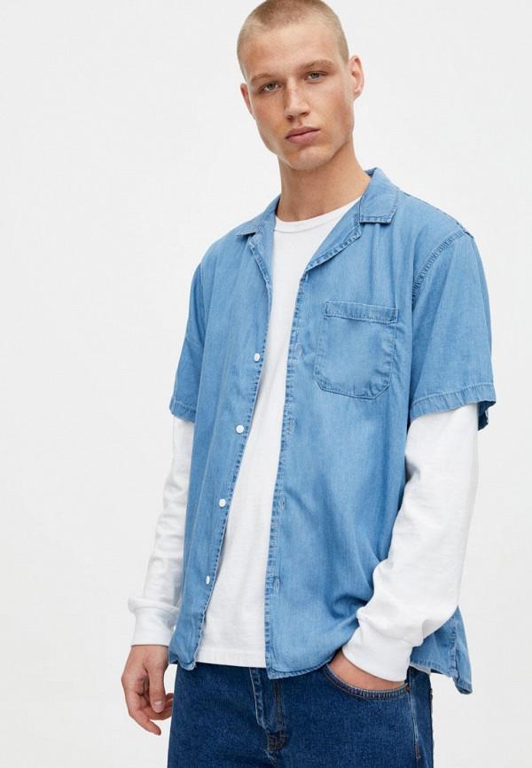 Купить Рубашка джинсовая Pull&Bear, ix001xm002nw, голубой, Осень-зима 2018/2019
