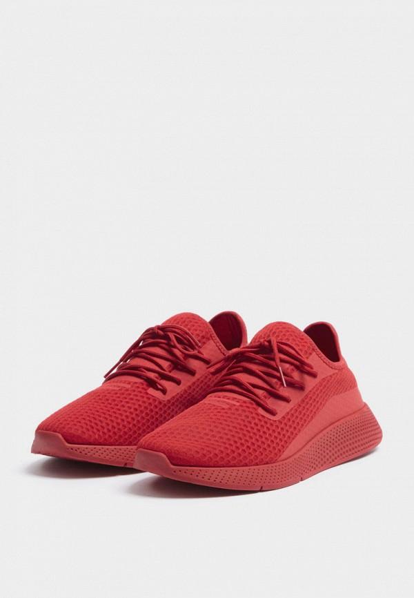 мужские кроссовки pull & bear, красные