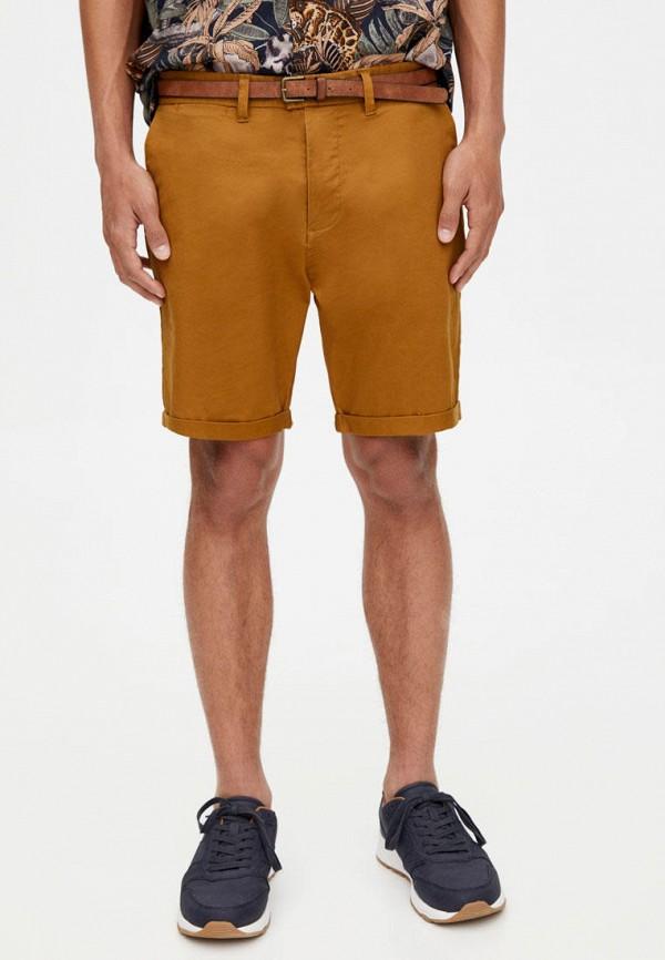 мужские шорты pull & bear, коричневые