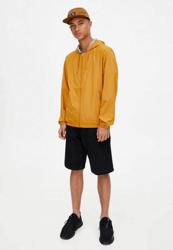 Фото 2 - Ветровка Pull&Bear желтого цвета