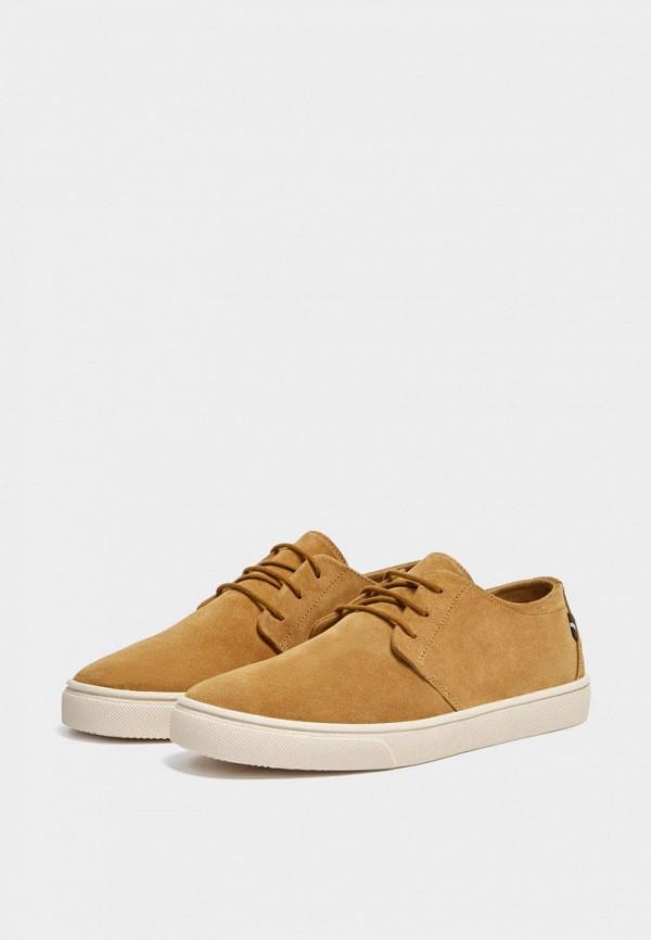мужские туфли pull & bear, коричневые