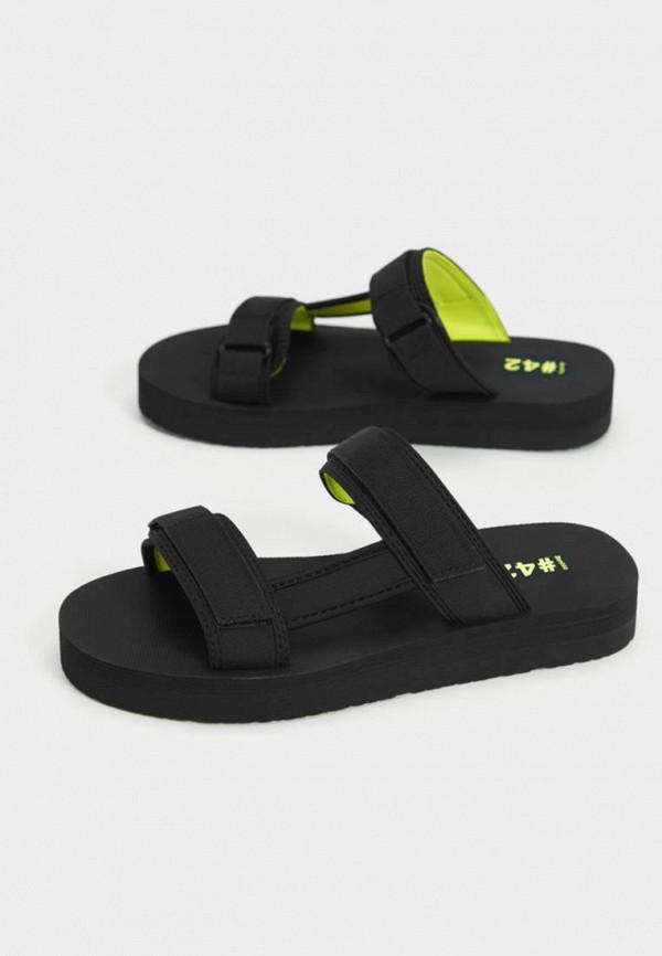 мужские сандалии bershka, черные