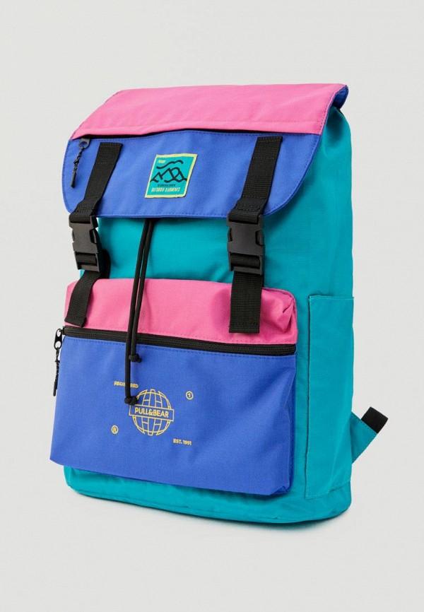 мужской рюкзак pull & bear, голубой