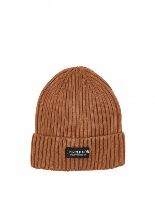 мужская шапка bershka, коричневая