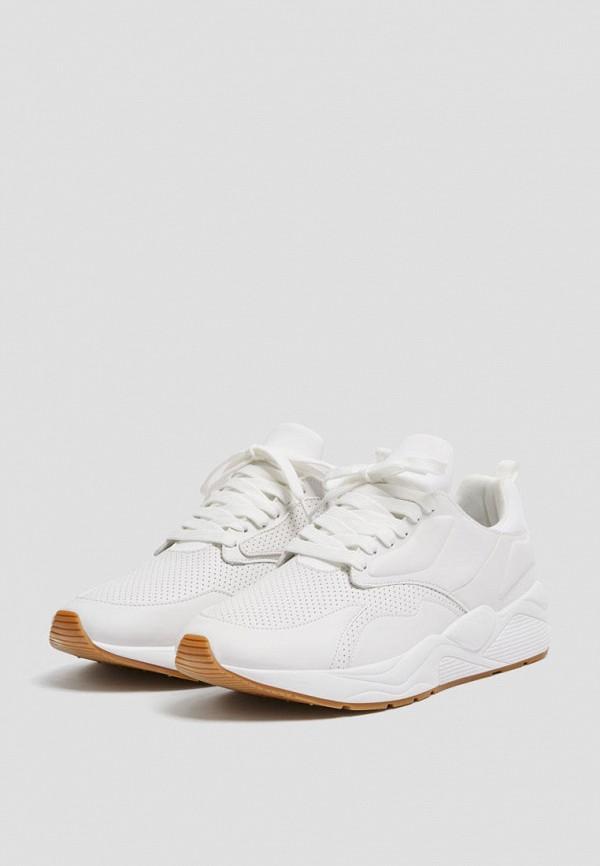 мужские кроссовки pull & bear, белые