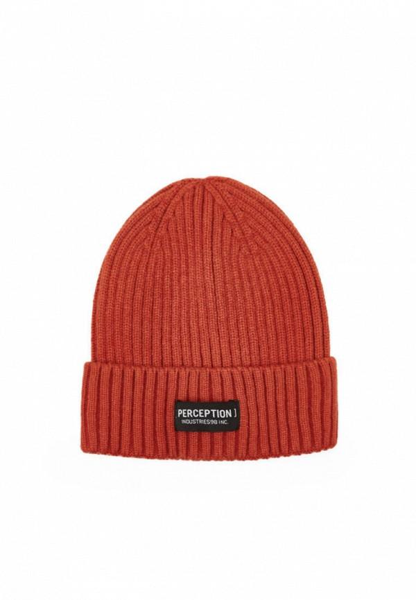 мужская шапка bershka, оранжевая