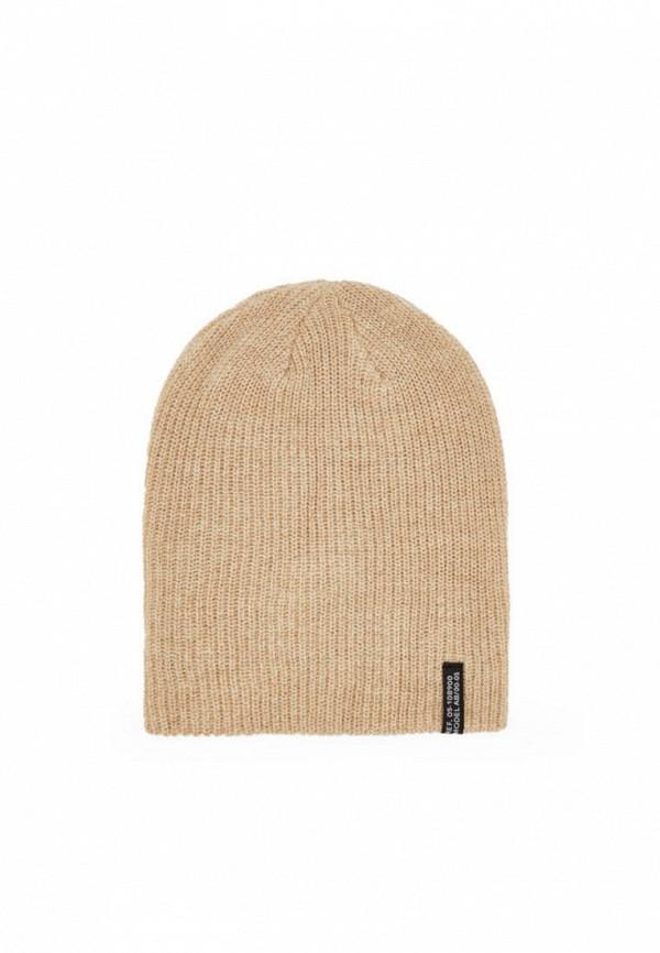 мужская шапка bershka, бежевая