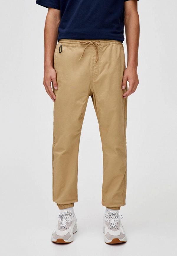 мужские брюки pull & bear, бежевые