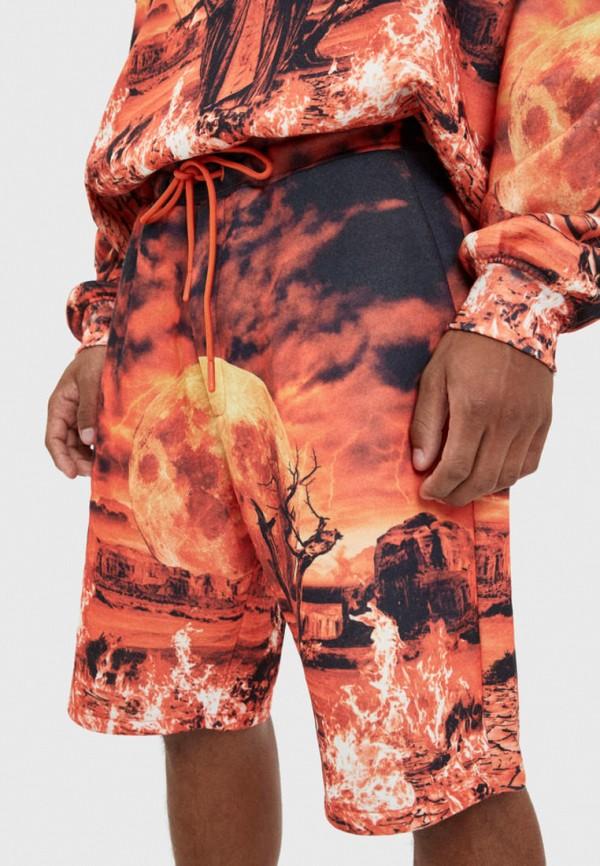 мужские шорты bershka, оранжевые