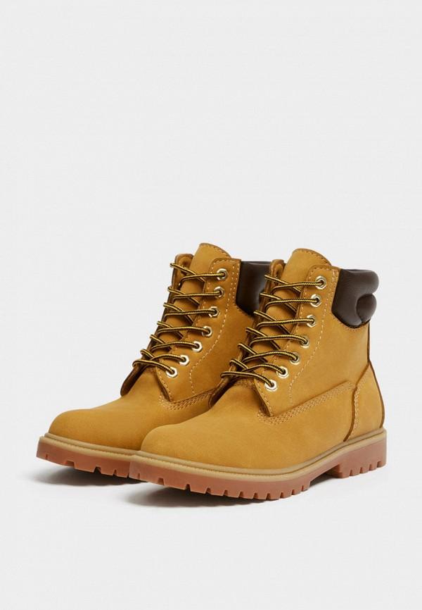 мужские ботинки pull & bear, оранжевые