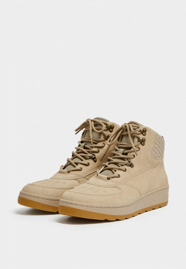 мужские ботинки pull & bear, бежевые