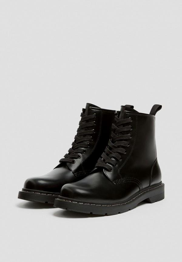 мужские ботинки pull & bear, черные