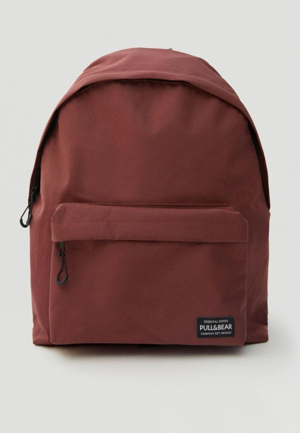 мужской рюкзак pull & bear, бордовый