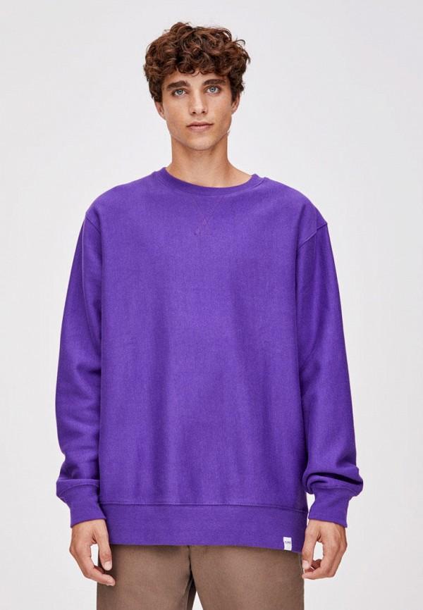 мужской свитшот pull & bear, фиолетовый