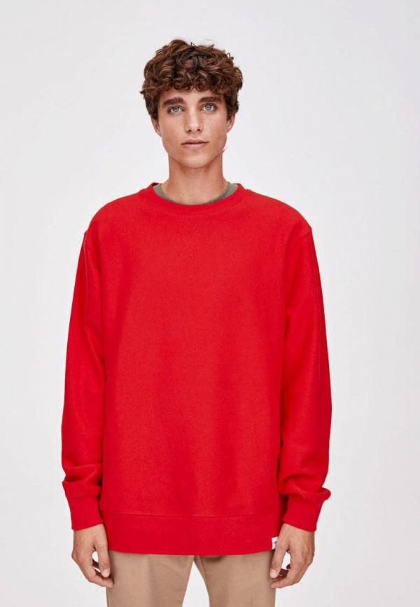 мужской свитшот pull & bear, красный