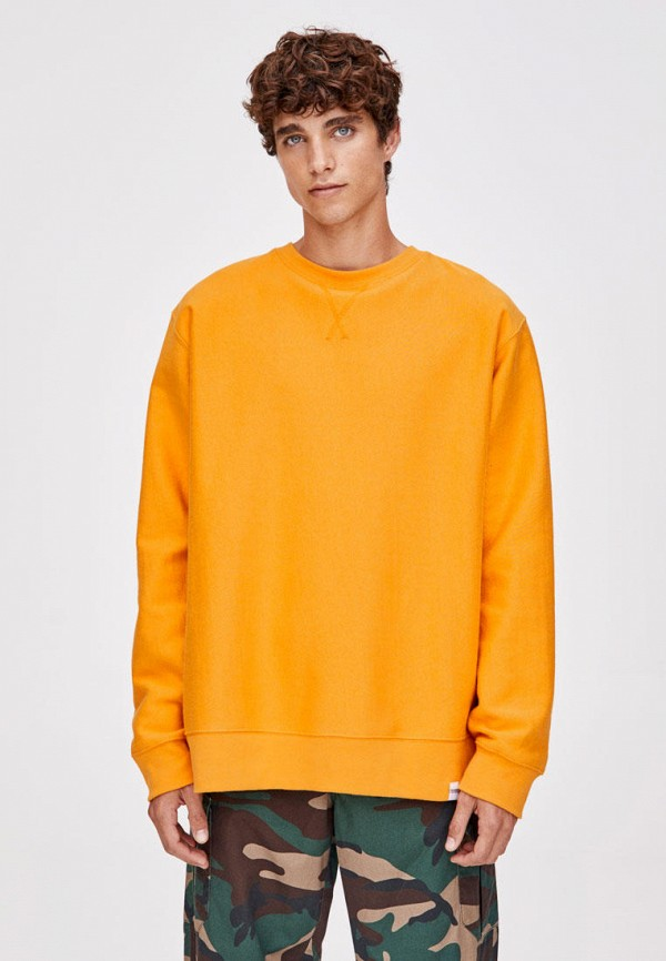 мужской свитшот pull & bear, желтый