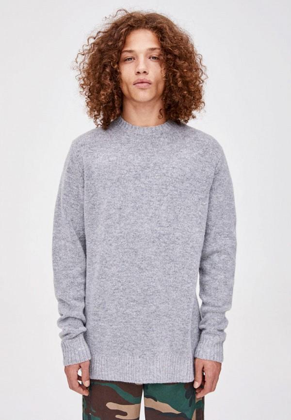 мужской джемпер pull & bear, серый