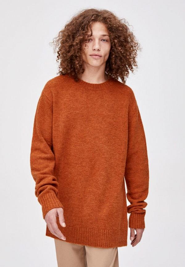 мужской джемпер pull & bear, коричневый