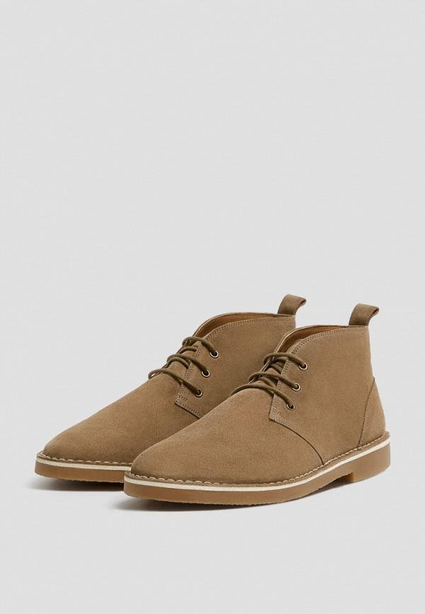 мужские ботинки pull & bear, коричневые