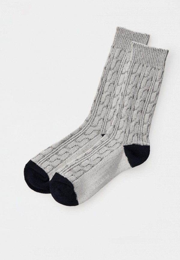 мужские носки pull & bear, серые