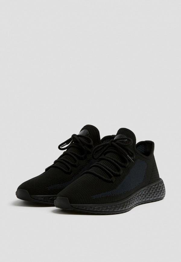 мужские низкие кроссовки pull & bear, черные