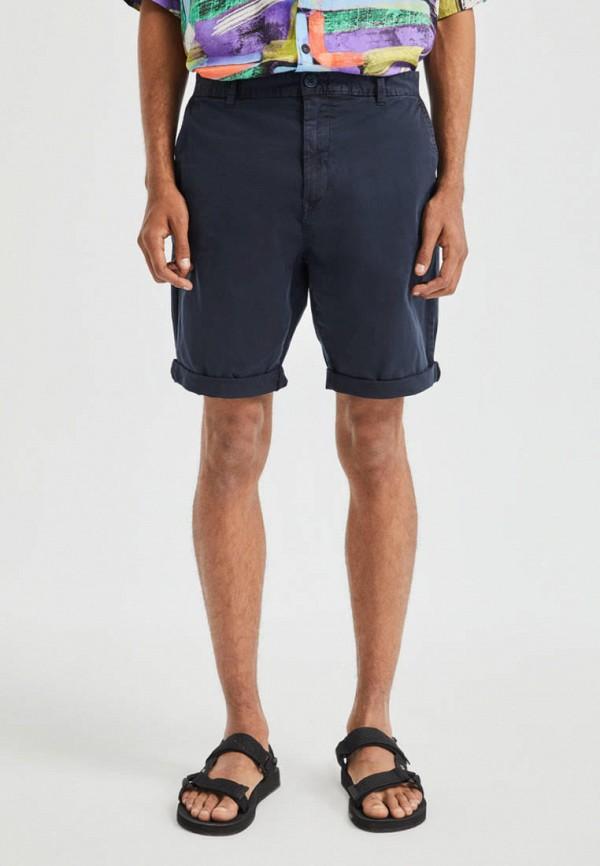мужские повседневные шорты pull & bear, синие