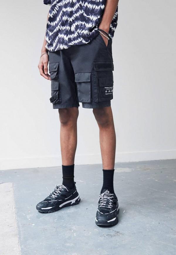 мужские повседневные шорты pull & bear, черные