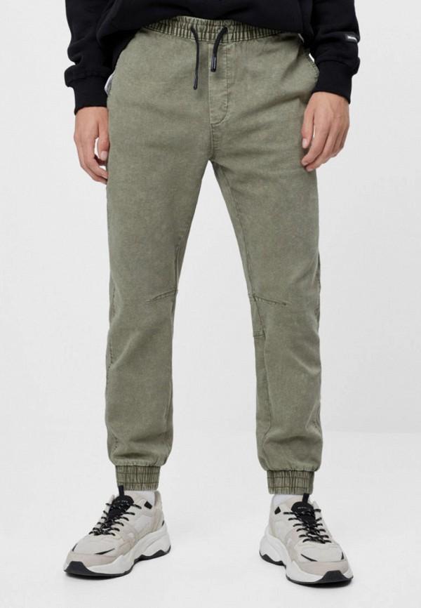 мужские брюки джоггеры bershka, хаки