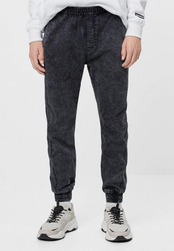 мужские брюки джоггеры bershka, серые