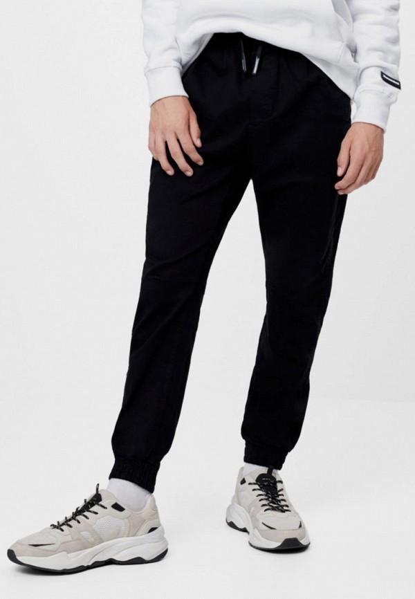 мужские брюки джоггеры bershka, черные