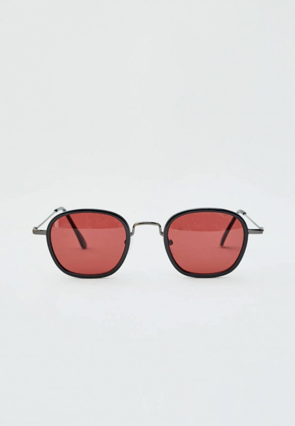 мужские круглые солнцезащитные очки pull & bear, черные