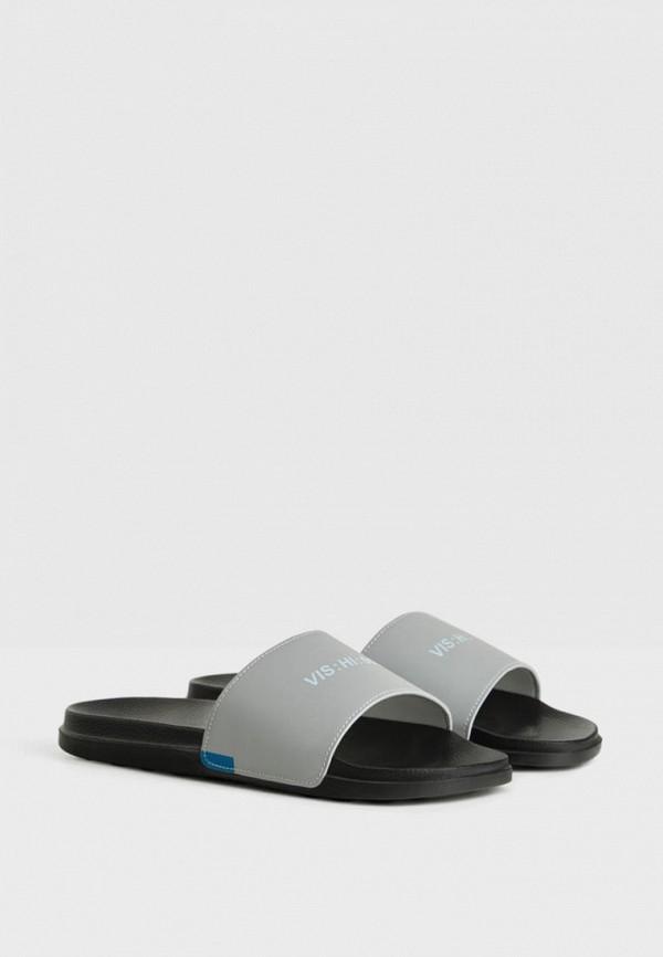 мужские сандалии bershka, серые
